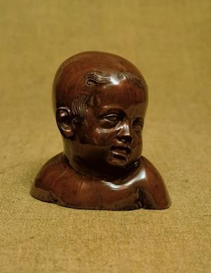 Meissen stoneware bust of a child, c.1715