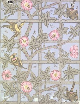 'Trellis' wallpaper design, 1864