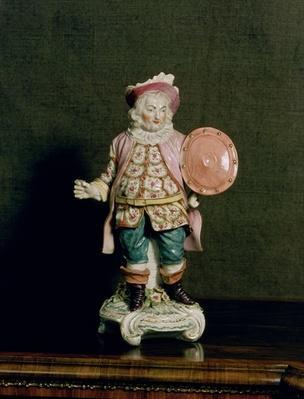 A Derby figure of Falstaff