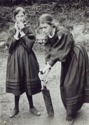 Virginia and Vanessa Stephen, in St. Ives, 1894