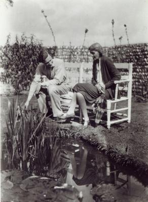 Virginia Woolf and John Lehmann at Charleston, c.1931