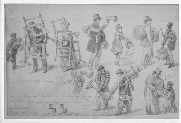 London street traders, 1830-40
