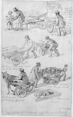 Street Traders, London, 1842