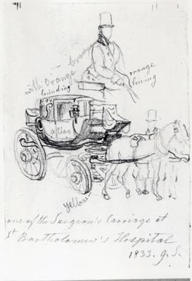 Surgeon's Carriage at St. Bartholomews Hospital, London, 1833
