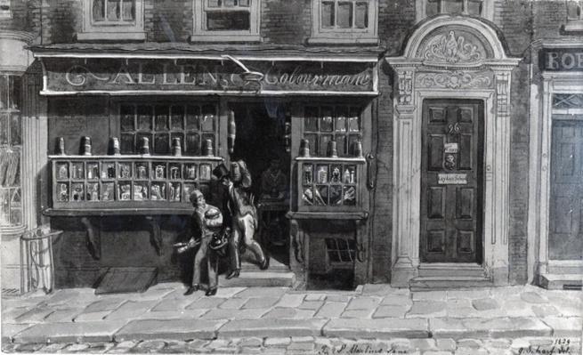 Colourman's Shop, St. Martin's Lane, London, 1829