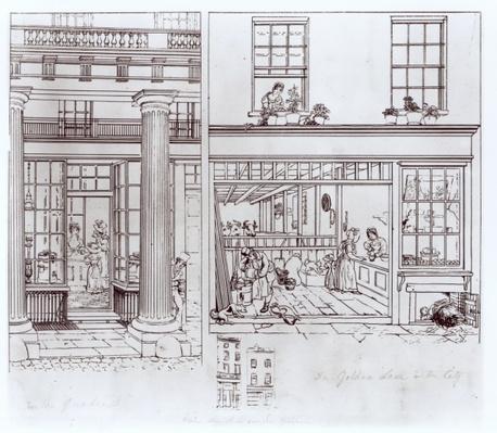 The Quadrant, Regent Street and Golden Lane, London, c.1829