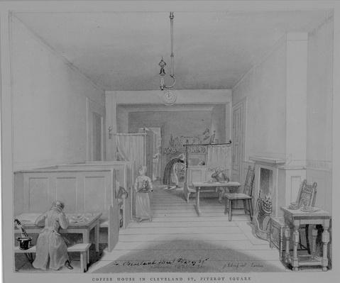 Coffee House in Cleveland Street, Fitzroy Square, London