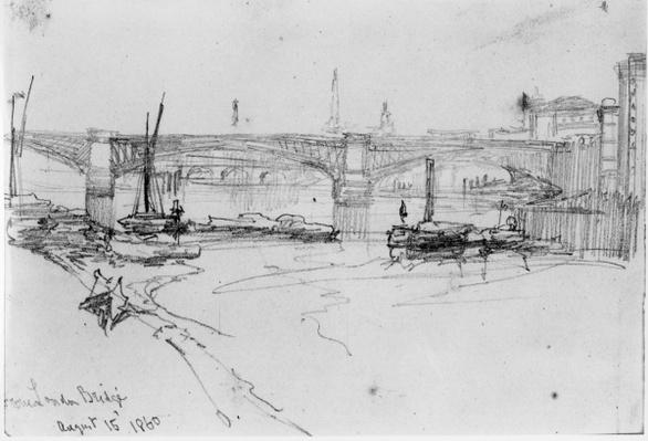 Sketch of London Bridge, 1860
