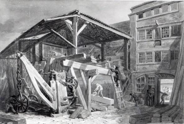 Timber Yard, Finsbury, 1825