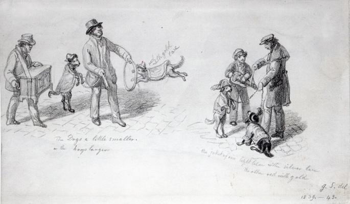 Street Performers, c.1839-43