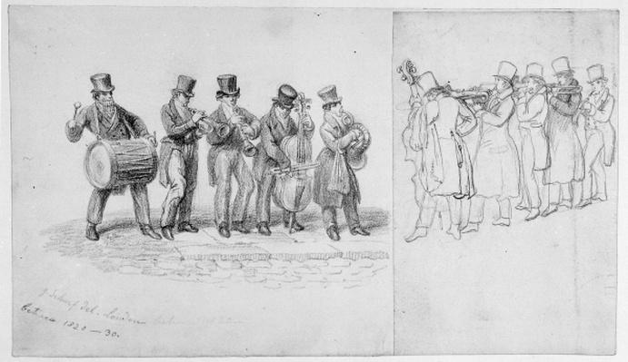 London Street Musicians, c.1820-30