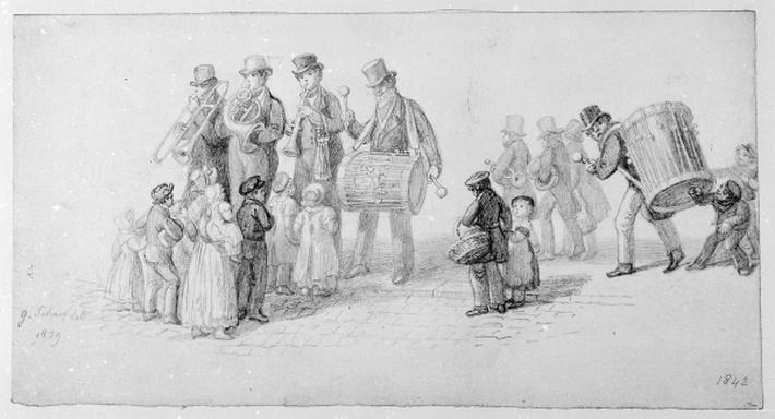 London Street Band, 1839
