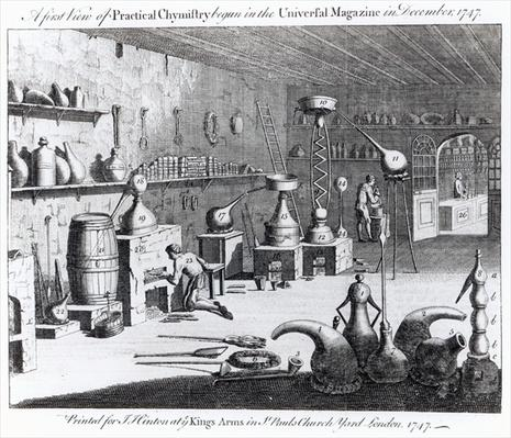 A first view of Practical Chemistry begun in the Universal Magazine in December 1747