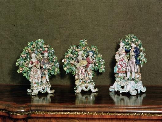 Bow porcelain figures, 1761