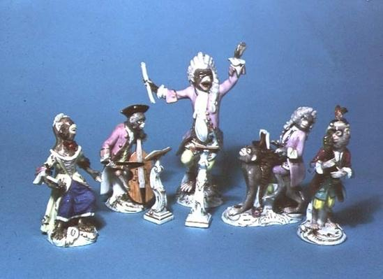 Meissen monkey band, c.1750