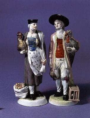 Pair of turkey sellers, possibly modelled by Jean-Jacob Louis