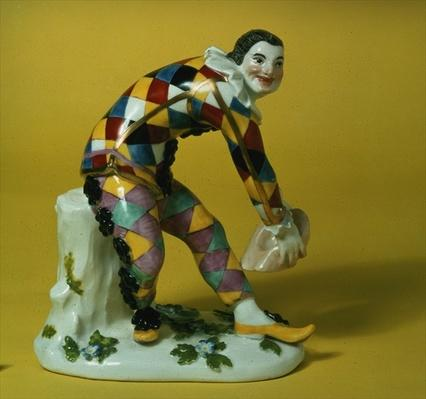 Meissen figure of Harlequin, c.1750
