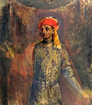 Portrait of Mikhail Kuzmin, 1911-12