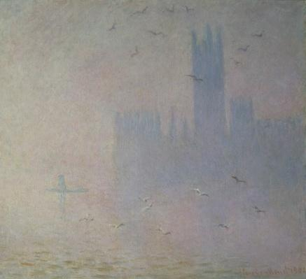 Seagulls over the Houses of Parliament, 1904