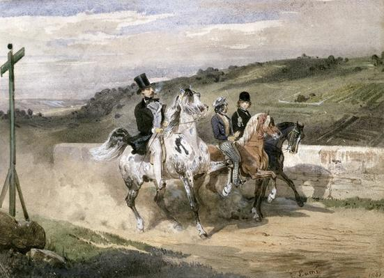 Horace Vernet and his Children Riding in the Country