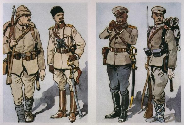 Turkish Infantryman and Officer