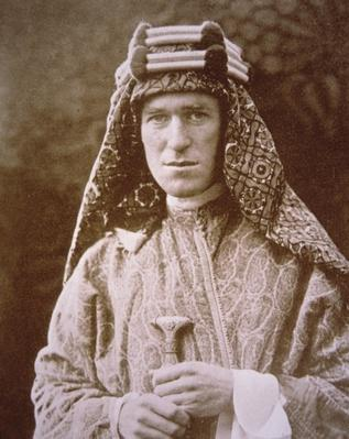 T.E. Lawrence in Arab costume during WWI, c.1914-18