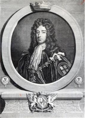 James Douglas, 2nd Duke of Queensberry, engraved by Louis du Guernier II