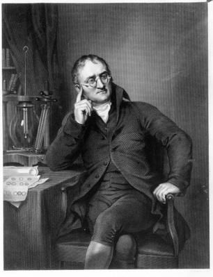 John Dalton, engraved by William Henry Worthington, c.1814