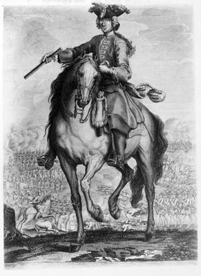 Prince Charles Edward Stuart at the Battle of Prestonpans, c.1745