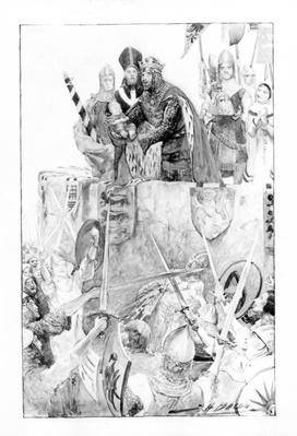 Edward I declaring his son Prince of Wales