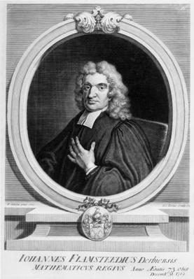 Sir John Flamsteed, engraved by George Vertue, 1719