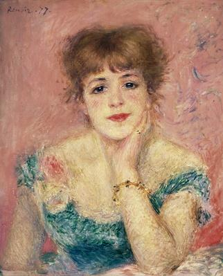 Portrait of the actress Jeanne Samary, 1877