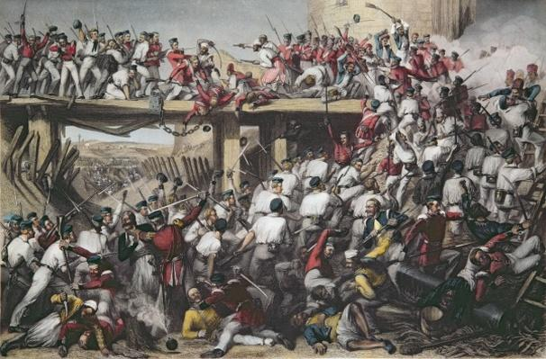Storming of Delhi, engraved by T.H. Sherratt, published by the London Printing and Publishing Company, August 1859