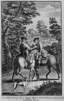 Claude Duval robbing Squire Roper, Master of the Buckhounds to King Charles II, in Windsor Forest