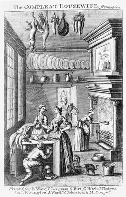 Frontispiece of 'The Compleat Housewife'