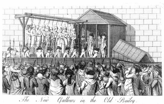 New Gallows built for public executions in 1785 at the Old Bailey