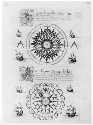 Ms Fr 150 fol.23r Sextant, from 'Les Premieres Oeuvres de Jacques De Vaulx Pilote en la Marine', 1583