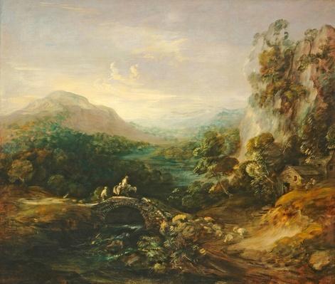 Mountain landscape with bridge, c.1783-1784