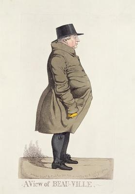 'A View of Beau-Ville' from Dighton's City Characters, 1824