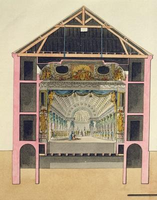 Plan for the Theatre Hall at Le Petit Trianon, 1786