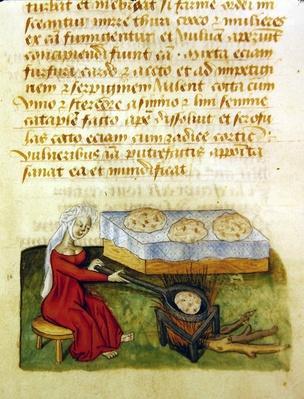 Ms. 'Tractatus de Herbis' by Dioscorides, fol.142r Baking Buns