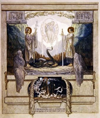 Illustration from Dante's 'Divine Comedy', Purgatory, Canto VIII: 24, 1921