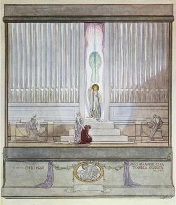 Illustration from Dante's 'Divine Comedy', Purgatory, Canto IX: 127, 1921
