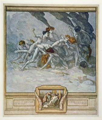 Illustration from Dante's 'Divine Comedy', Inferno, Canto XXX: 22, 1921