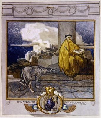 Illustration from Dante's 'Divine Comedy', Purgatory, Canto XI: 135, 1921
