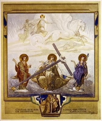Illustration from Dante's 'Divine Comedy', Purgatory, Canto XVI: 95, 1921