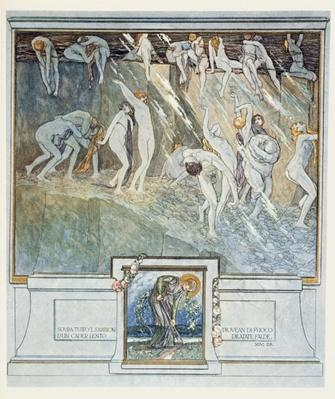 Illustration from Dante's 'Divine Comedy', Inferno, Canto XIV. 28, 1921