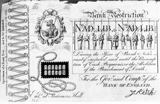 Bank Restriction Note, 1818