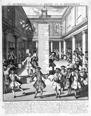 The Bubblers Bubbl'd, 1720