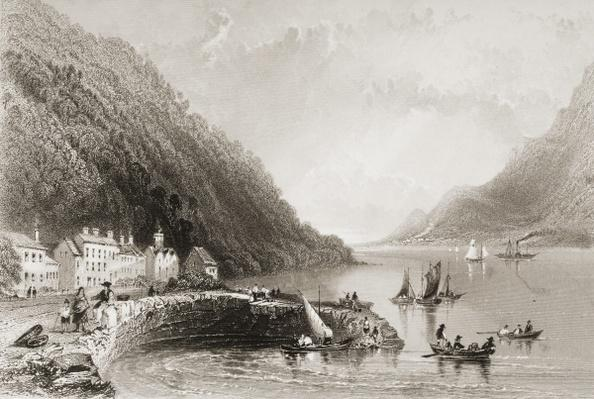 Rosstrevor Pier, County Down, from 'Scenery and Antiquities of Ireland' by George Virtue, 1860s